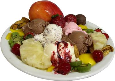 Ice Cream Fruits Ingredients